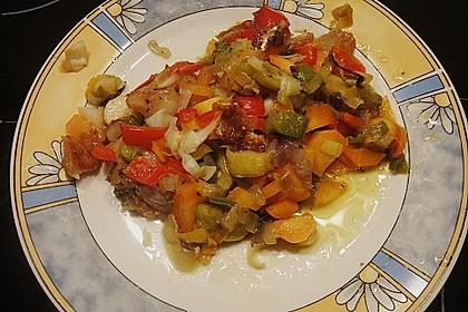 Gemüsefisch in Alufolie 2