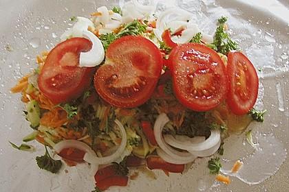 Gemüsefisch in Alufolie