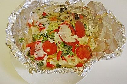 Gemüsefisch in Alufolie 4