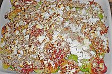 Kartoffel - Rosenkohl - Auflauf mit Fetakruste