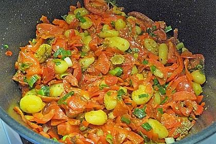 Gnocchi mit Tomaten - Paprika - Gemüse 8