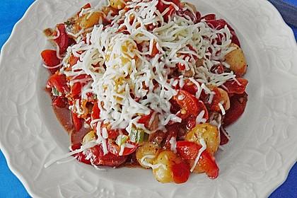 Gnocchi mit Tomaten - Paprika - Gemüse 7
