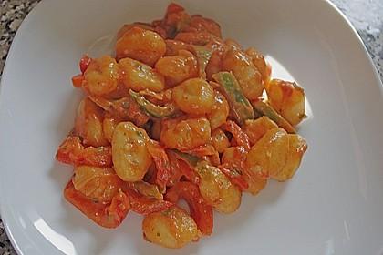 Gnocchi mit Tomaten - Paprika - Gemüse 1
