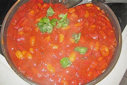 Gnocchi mit Tomaten - Paprika - Gemüse 10
