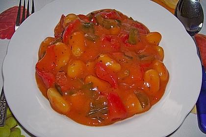 Gnocchi mit Tomaten - Paprika - Gemüse 4
