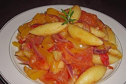 Gnocchi mit Tomaten - Paprika - Gemüse 2