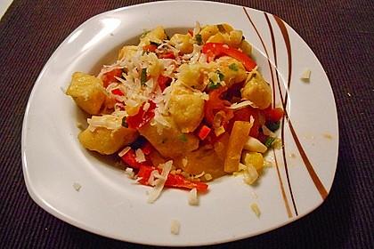 Gnocchi mit Tomaten - Paprika - Gemüse 5