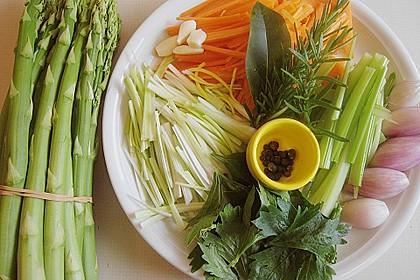 Dorsch in Bratfolie auf dem Gemüsebett 2