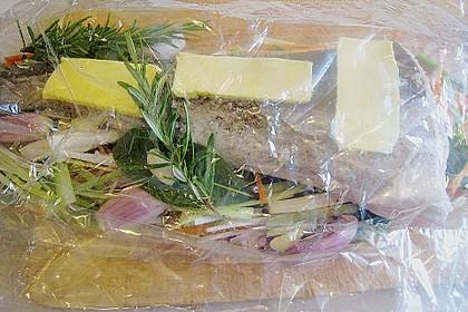 Dorsch in Bratfolie auf dem Gemüsebett 6