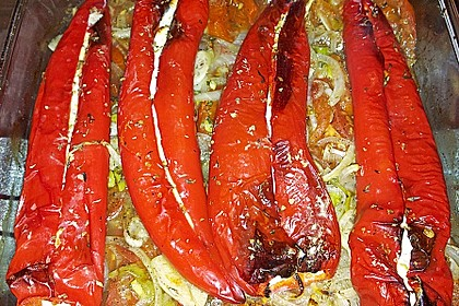 Türkische Paprika aus dem Backofen - sehr knackig 6