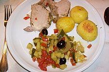 Aromatischer Schweinebraten mit mediterranem Gemüse