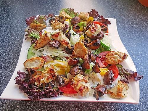 salat mit putenbrust rezepte suchen. Black Bedroom Furniture Sets. Home Design Ideas