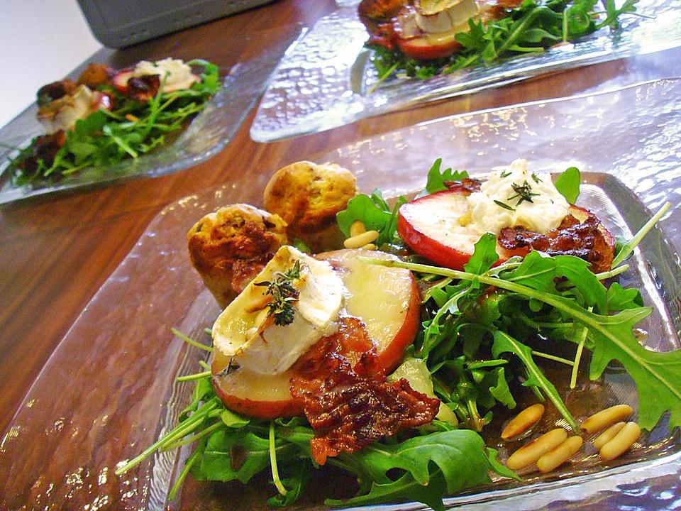 Salat mit ziegenkase apfel