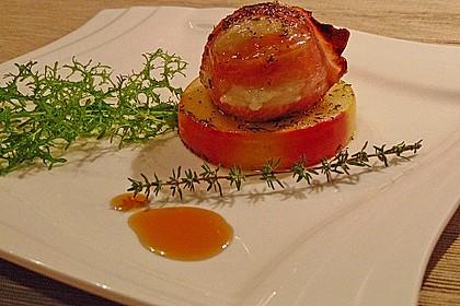Gudruns Apfel - Speck - Ziegenkäse Türmchen mit Honig und Thymian