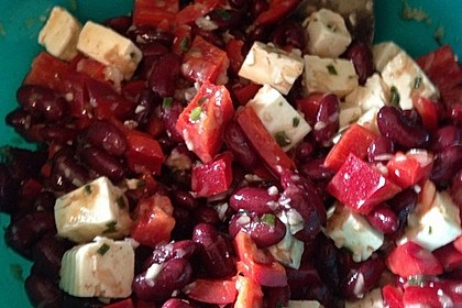 Rote Bohnen - Schafskäse - Salat 12