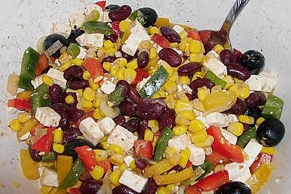 Rote Bohnen - Schafskäse - Salat 3