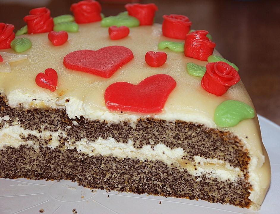 Mohn marzipan torte rezept mit bild von luna1310 - Torten dekorieren mit marzipan ...