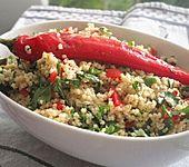 Scharfer Petersilien-Minze-Salat