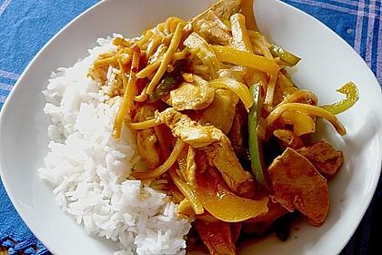 Asiatische Hähnchenpfanne süß - sauer 1
