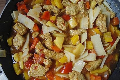 Asiatische Hähnchenpfanne süß - sauer 2