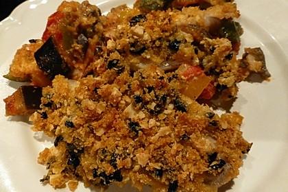Zanderfilet mit Olivenkruste auf mediterranem Gemüsebett 2