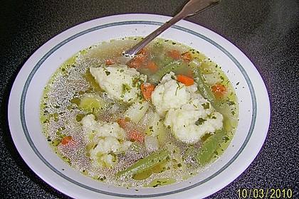 Bohnen-Gemüseeintopf mit Grießklößchen 3