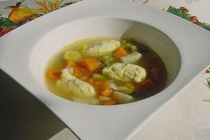 Bohnen-Gemüseeintopf mit Grießklößchen 1