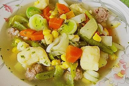 Bohnen-Gemüseeintopf mit Grießklößchen 2