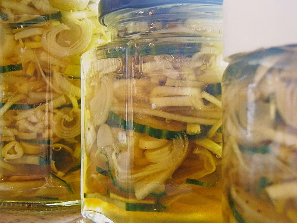 sannes glas gurken salat rezept mit bild von saanne. Black Bedroom Furniture Sets. Home Design Ideas