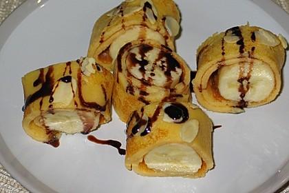 Bananenröllchen mit Schokosauce