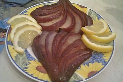 Birnen in Rotwein an Vanilleeis 27