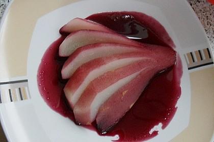 Birnen in Rotwein an Vanilleeis 20