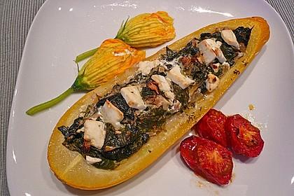 Zucchini mit Ziegenkäse - Spinat - Füllung 0