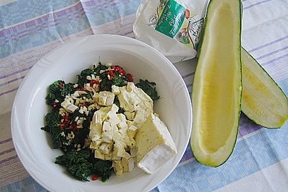 Zucchini mit Ziegenkäse - Spinat - Füllung 6