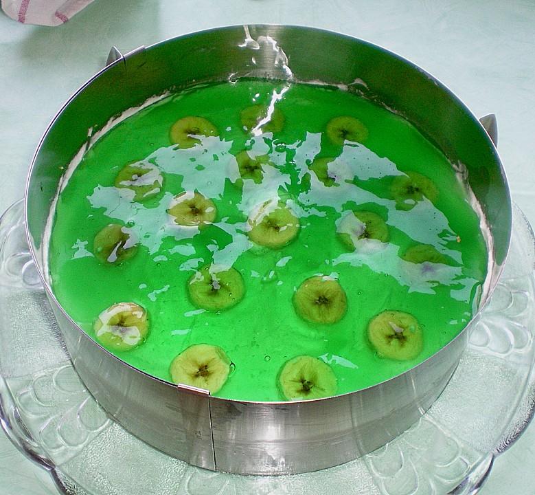 Kuchen banane wackelpudding
