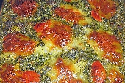 Gnocchiauflauf mit Spinat und Cherrytomaten 22