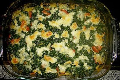 Gnocchiauflauf mit Spinat und Cherrytomaten 7
