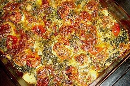 Gnocchiauflauf mit Spinat und Cherrytomaten 19