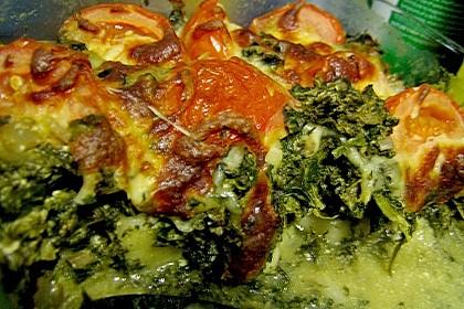Gnocchiauflauf mit Spinat und Cherrytomaten 38