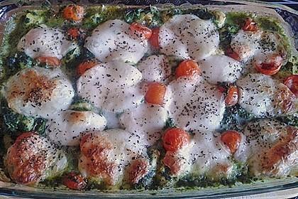 Gnocchiauflauf mit Spinat und Cherrytomaten 25