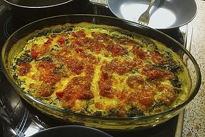 Gnocchiauflauf mit Spinat und Cherrytomaten 8