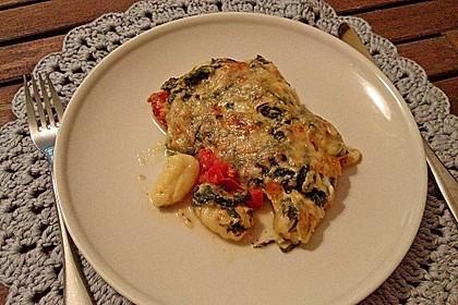 Gnocchiauflauf mit Spinat und Cherrytomaten 17