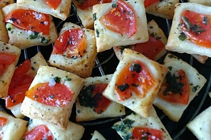Blätterteig - Tomaten - Quadrate 111