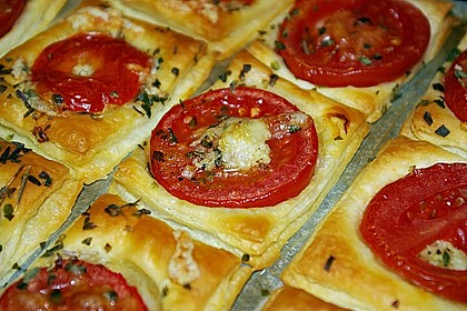 Blätterteig - Tomaten - Quadrate 35