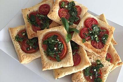 Blätterteig - Tomaten - Quadrate 110