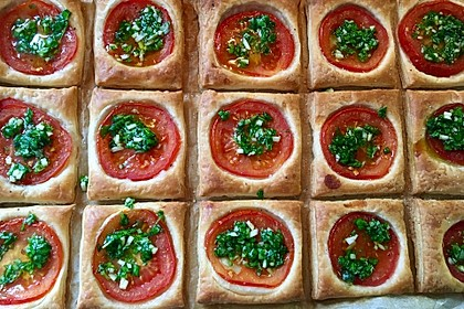 Blätterteig - Tomaten - Quadrate 96