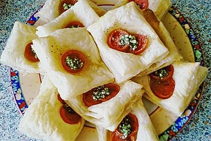 Blätterteig - Tomaten - Quadrate 202
