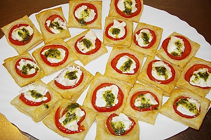 Blätterteig - Tomaten - Quadrate 107