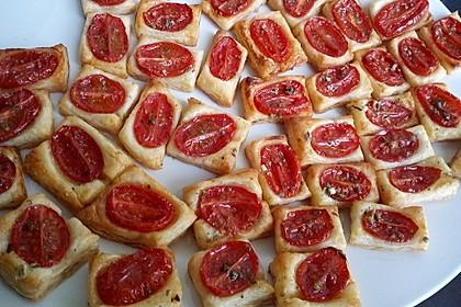 Blätterteig - Tomaten - Quadrate 54