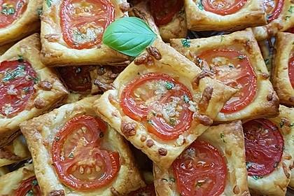 Blätterteig - Tomaten - Quadrate 55